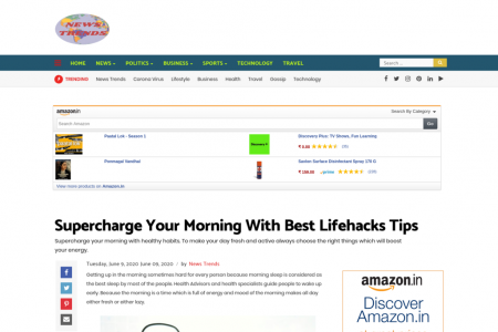 Supercharge Your Morning With Best Lifehacks Tips Infographic