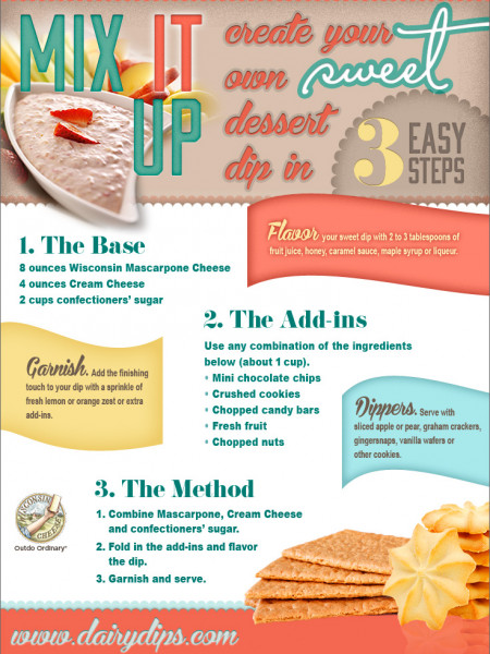 Sweet Valentine's Day Dips in 3 Easy Steps Infographic