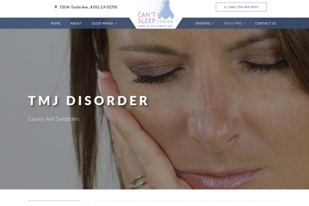 TMJ Disorder - Can't Sleep Center  Infographic
