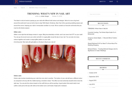 TRENDING: WHAT'S NEW IN NAIL ART Infographic
