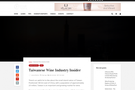 Taiwanese Wine Industry Insider Infographic