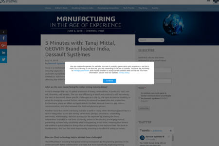 Tanuj Mittal, GEOVIA Brand leader India, Dassault Systemes | Design the Future Infographic