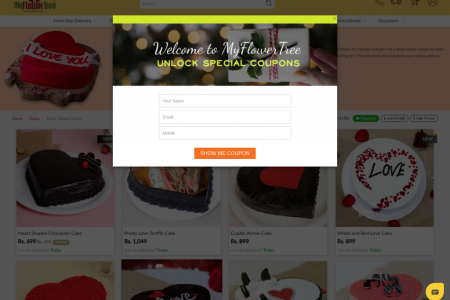 Tasty and Yummy Heart Shape Cake Online Infographic