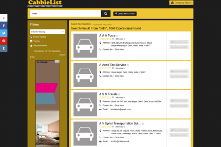 Taxi Services in Delhi Infographic