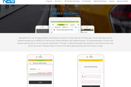 Taxi dispatching software like as Uber / ola  Clone Infographic