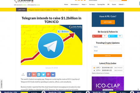 Telegram intends to raise $1.2billion in TON ICO Infographic