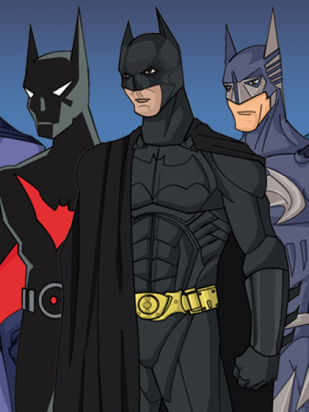The Batsuit Evolution Infographic