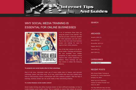 The Benefits Of Social Media Training Infographic