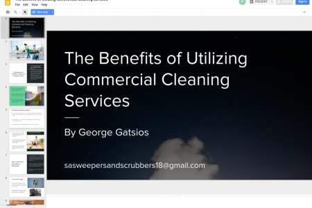 The Benefits Of Utilizing Commercial Cleaning Services Infographic