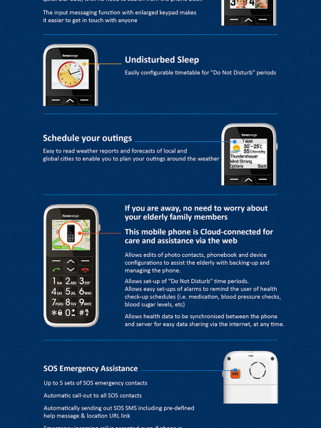 The Big Friendly Phone Comes with Amazing Features Perfect for Older Generation Infographic
