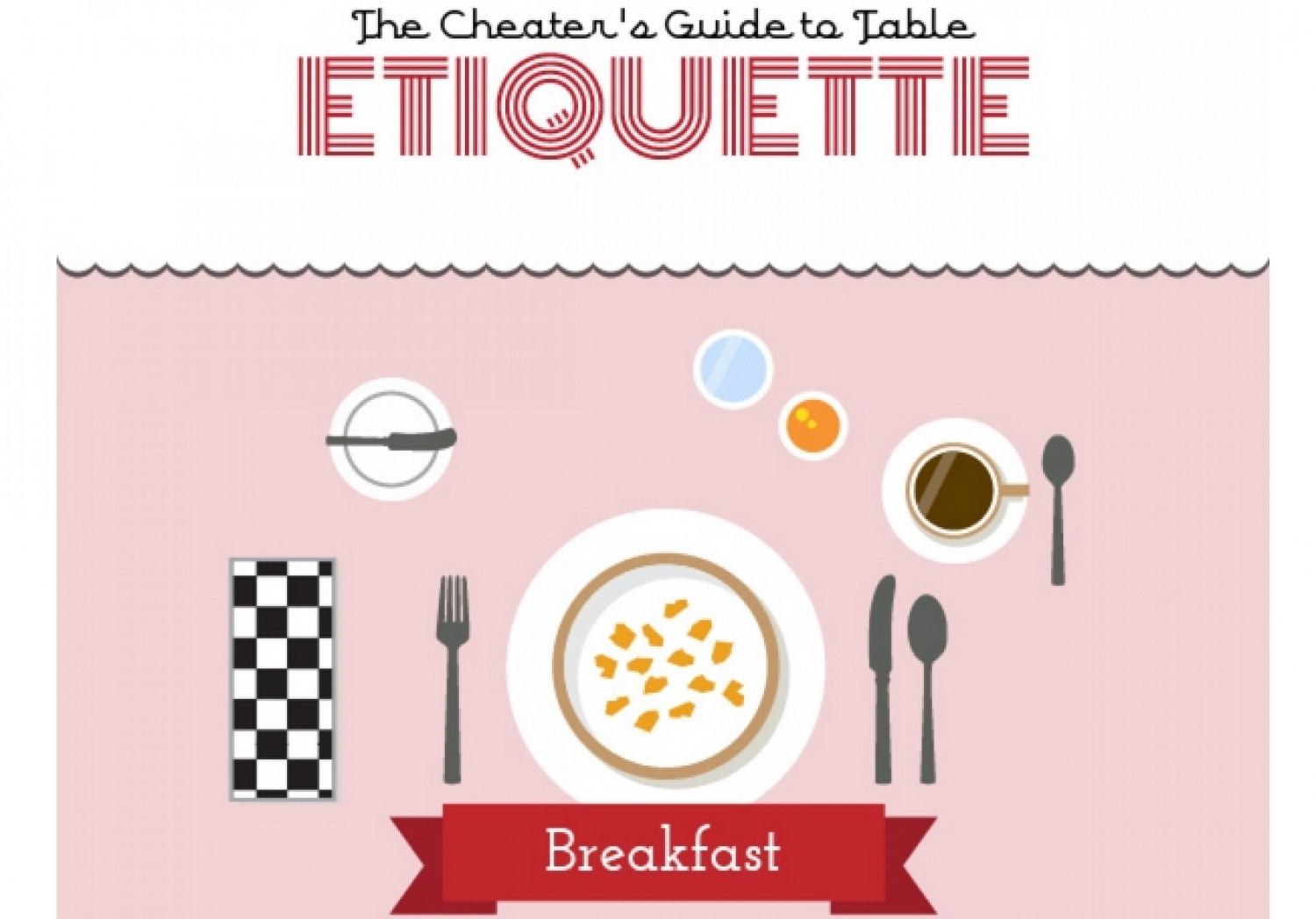 The Cheaters Guide To Table Etiquette Infographic