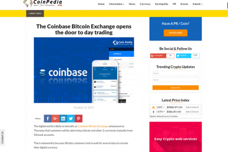 The Coinbase Bitcoin Exchange opens the door to day trading Infographic