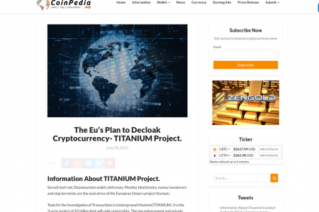 The Eu's Plan to Decloak Cryptocurrency- TITANIUM Project. Infographic