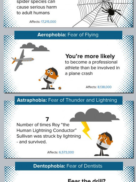 The Facts Behind Our Most Common Phobias Revealed Infographic
