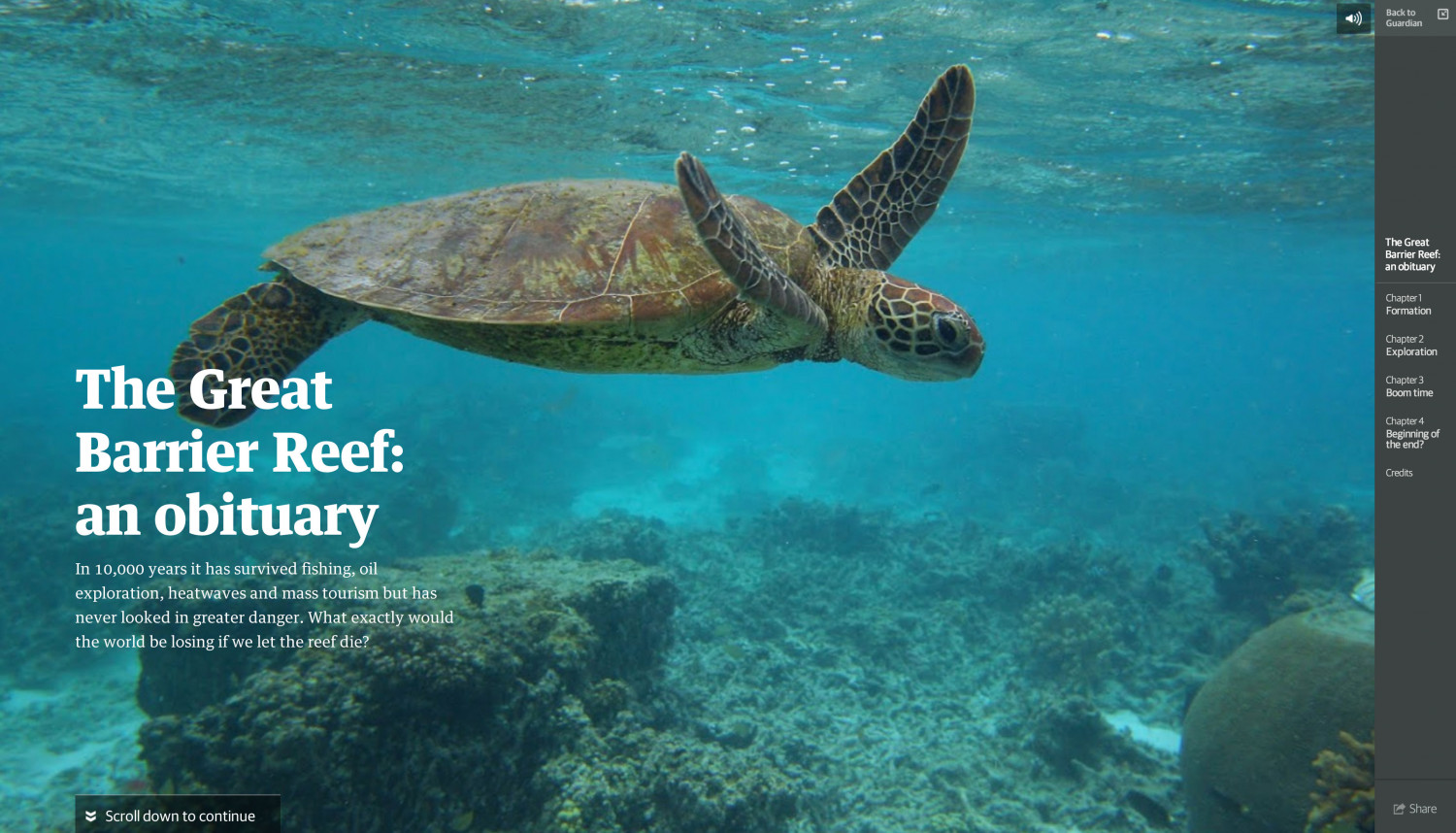 The Great Barrier Reef: An Obituary Infographic