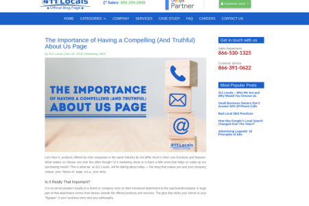 The Importance of Having a Compelling (And Truthful) About Us Page Infographic