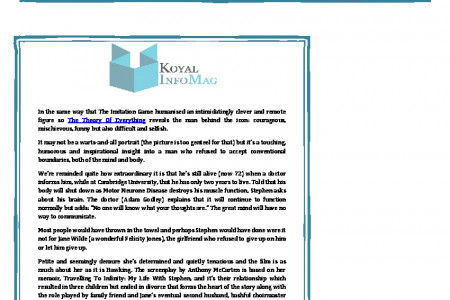 The Koyal Group Info Mag Review: Theory about the life of Professor Stephen Hawking Infographic