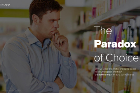 The Paradox of Choice and Guided Selling solutions Infographic