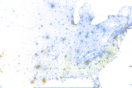 The Racial Dot Map Infographic
