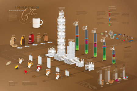 The Real Cost of Your Morning Cup of Coffee Infographic