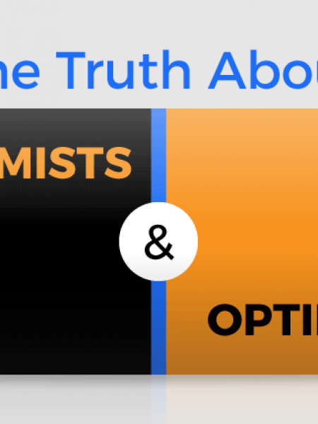 The Truth About Pessimists and Optimists Infographic