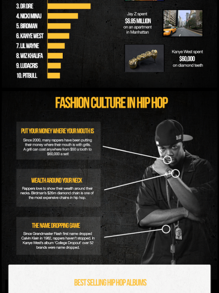 The World of Hip Hop Infographic