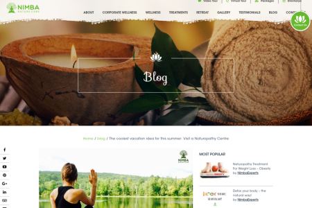 The coolest vacation idea for this summer: Visit a Naturopathy Centre Infographic