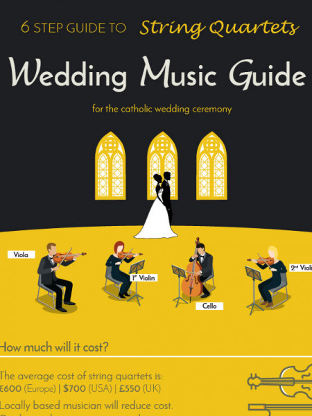 The ultimate wedding ceremony music guide for string quartets Infographic