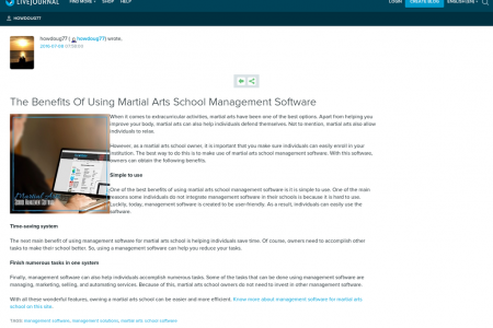 Things To Know About Management Software For Martial Arts School Infographic