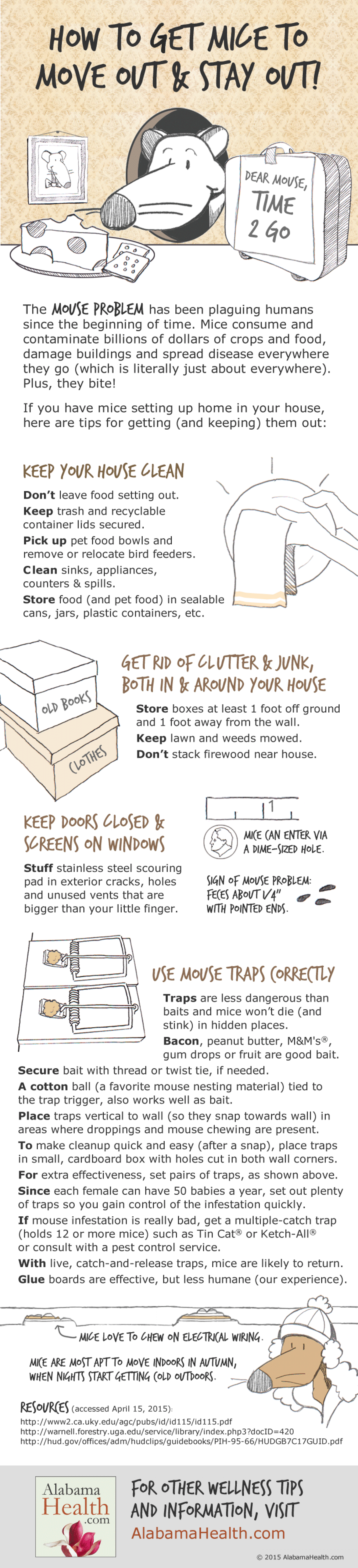 Tips for Getting Rid of Mice - and Preventing Their Return Infographic