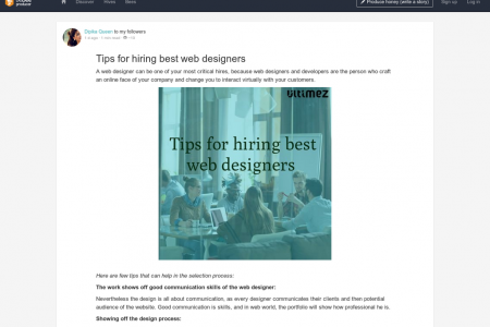 Tips for hiring best web designers Infographic