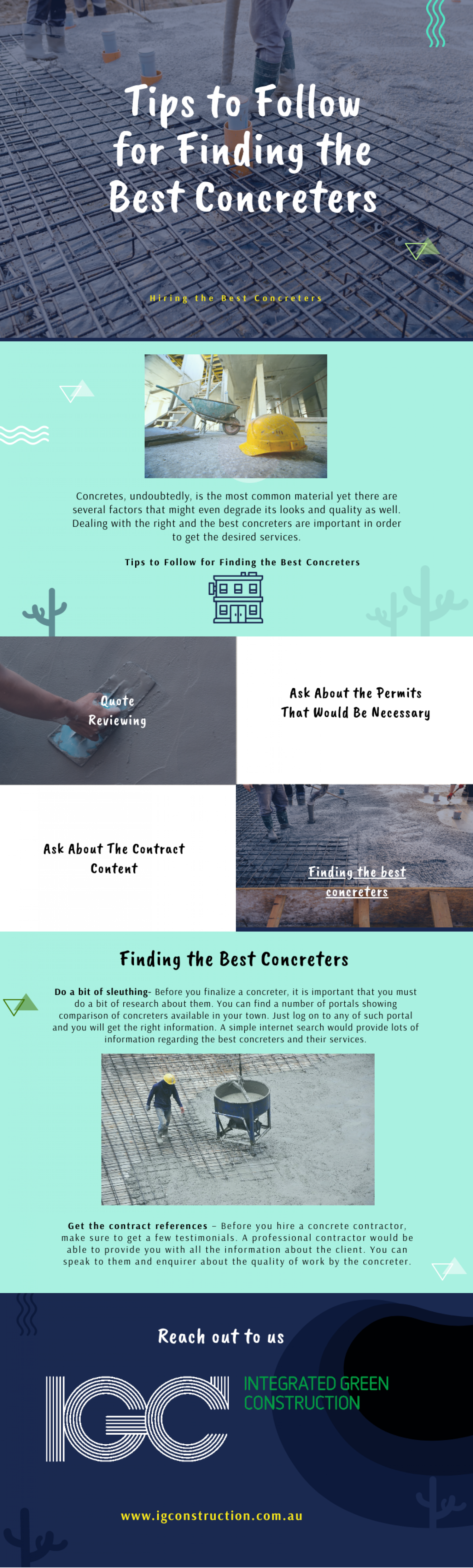 Tips to Follow for Finding the Best Concreters  Infographic