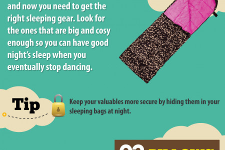 Tips to survive Music Festivals Infographic