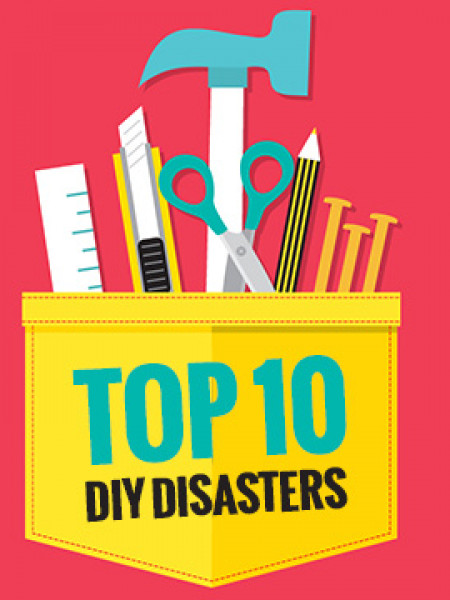 Top 10 DIY Disasters Infographic