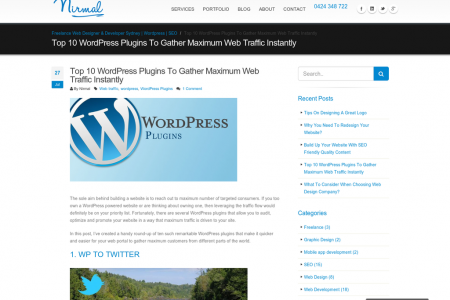 Top 10 WordPress Plugins to gather maximum web traffic instantly Infographic