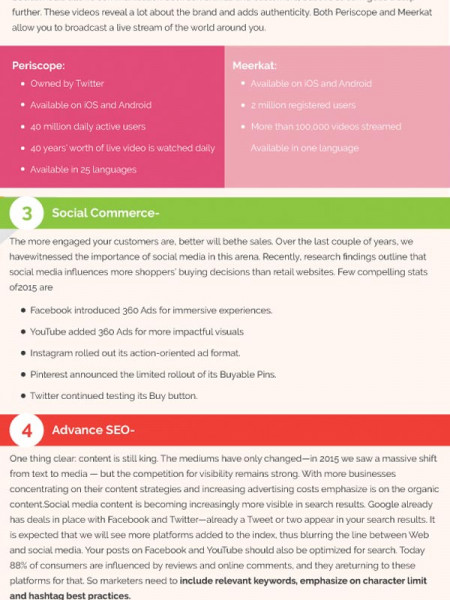Top 6 Popular Social Media Trends, that will Change Your Business in 2017 Infographic