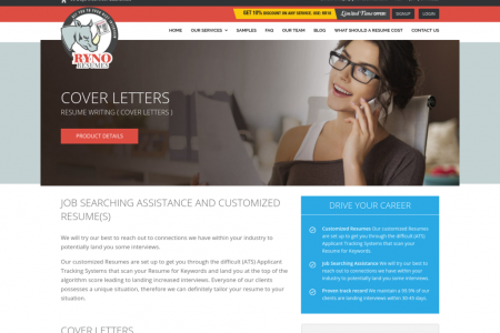 Top Rated Cover Letter Writing Service | Ryno Resumes, LLC. Infographic