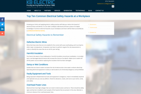 Top Ten Common Electrical Safety Hazards at a Workplace Infographic