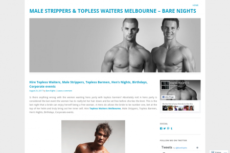 Topless Barmen, Hen's Nights, Birthdays, Corporate events Infographic