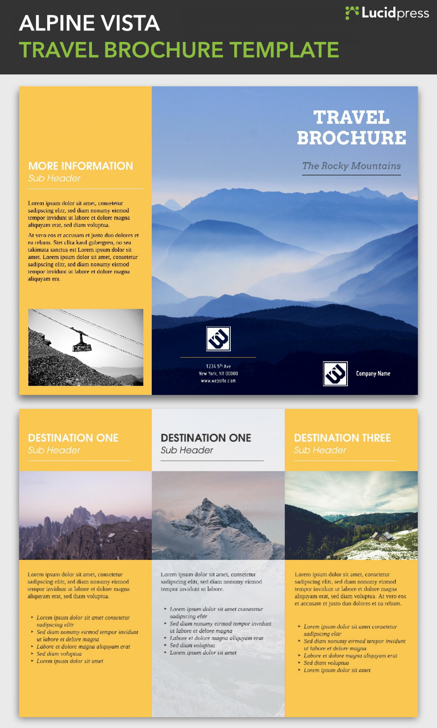 Travel Brochure Template | Made in Lucidpress | Visual.ly