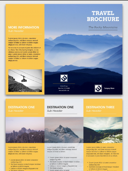 Travel Brochure Template | Made in Lucidpress Infographic