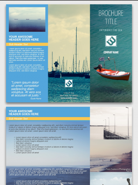 Trifold Brochure Template | Lucidpress Infographic