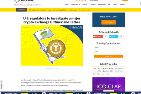 U.S. regulators to investigate a major crypto exchange Bitfinex and Tether Infographic