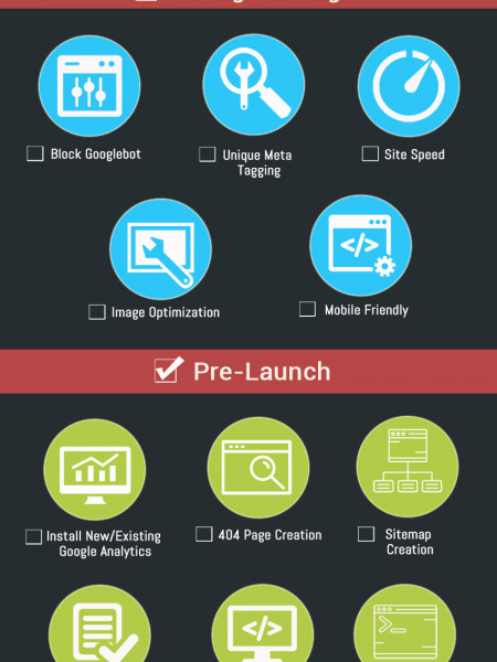 Ultimate SEO Checklist for Website Redesign Infographic