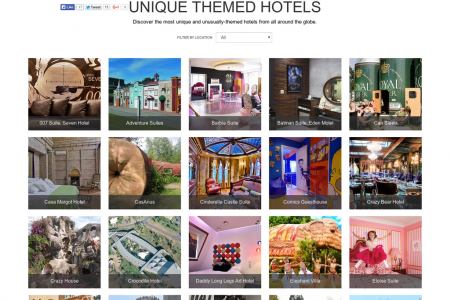Unique Themed Hotels [Interactive Gallery] Infographic