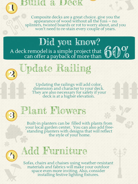 Upgrade Outdoor Space to Increase the Value of Your Home Infographic