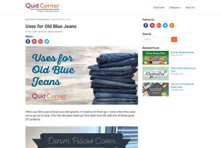 Uses for Old Blue Jeans Infographic