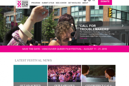Vancouver Queer Film Festival website Infographic