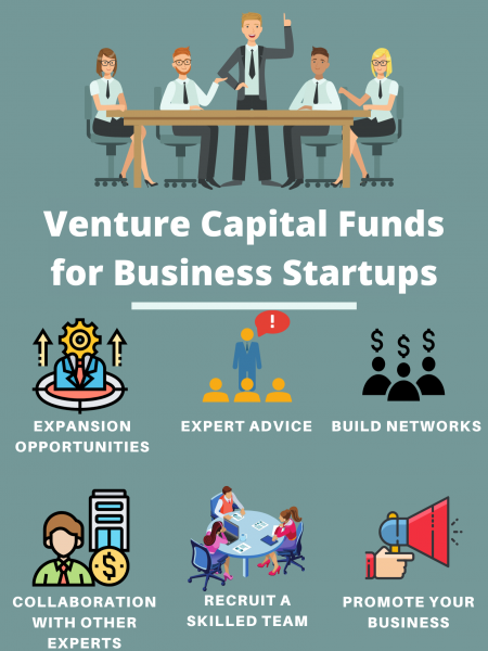 Venture Capital Funds for Business Startups Infographic