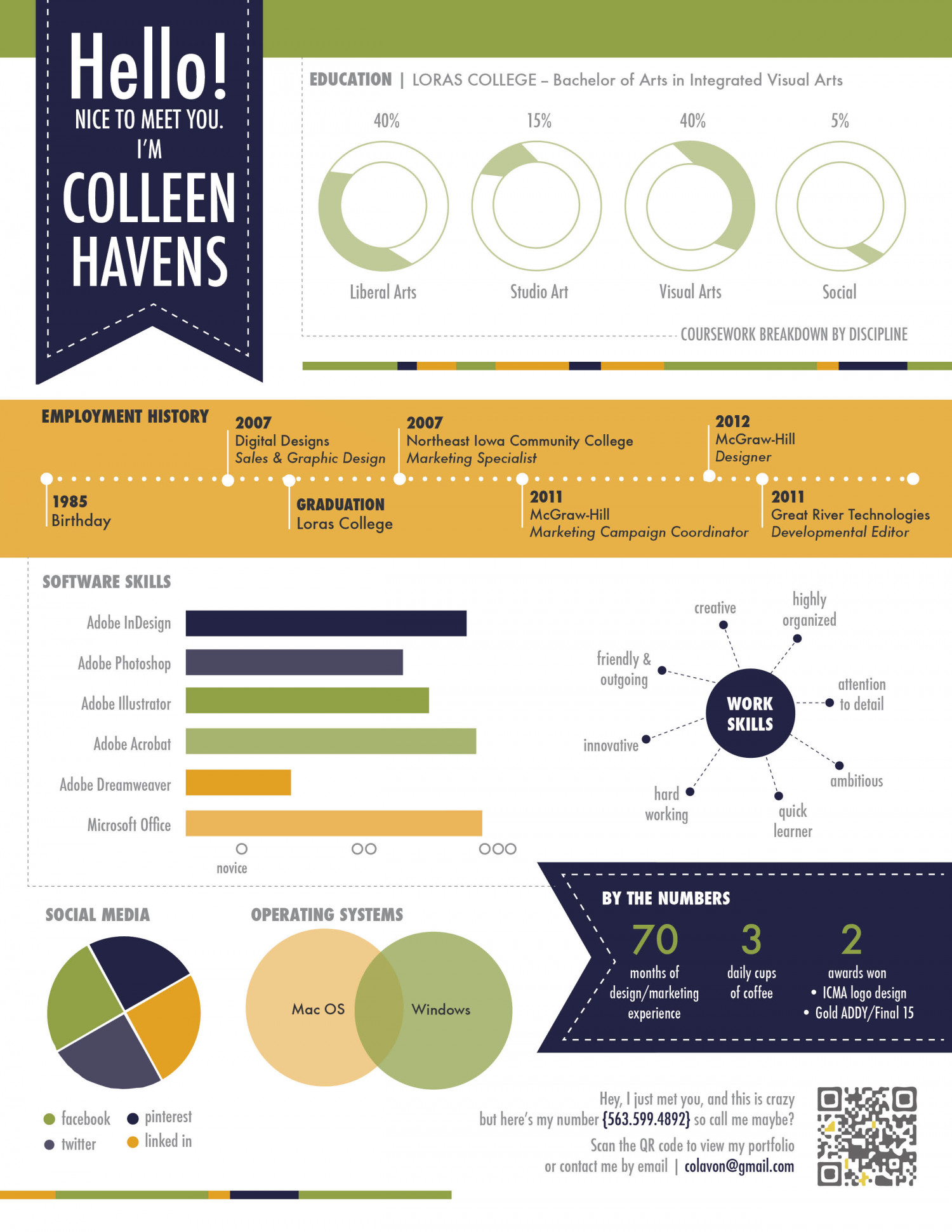 visual resume infographic - Visual Resume